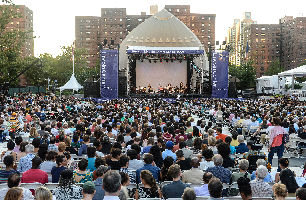 The Damrosch Park Bandsheel during Lincoln Center Out of Doors